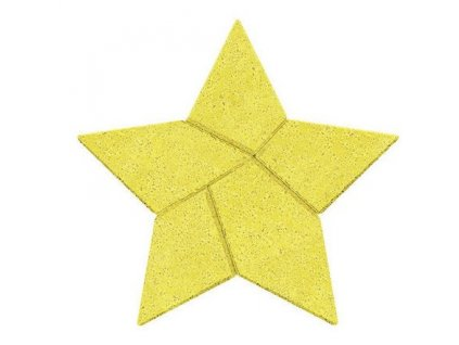 Kamenné puzzle - hvězda