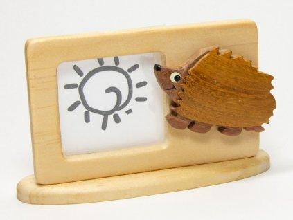 040 - Ježek - rámeček tropické dřevo