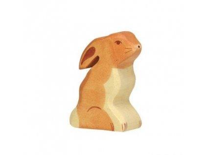 Zajíček sedící – dřevěné zvířátko
