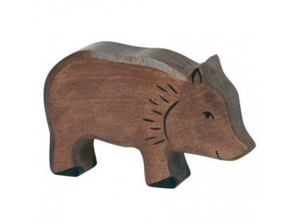 Divoké prasátko, bachyně – dřevěné zvířátko