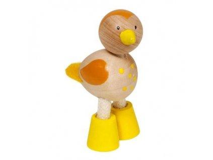 Ptáček - dřevěné zvířátko pro děti (doprodej)