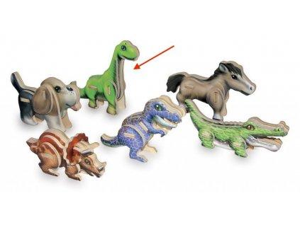 Brachiosaurus - 3D mini puzzle (doprodej)