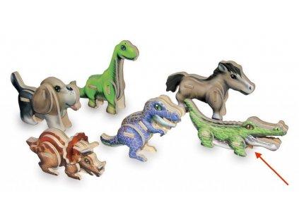Krokodýl - 3D mini puzzle (doprodej)