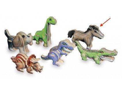 Kůň - 3D mini puzzle (doprodej)