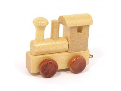 Lokomotiva - vlak s písmenky