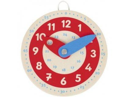 Dřevěné hodiny, 10 cm