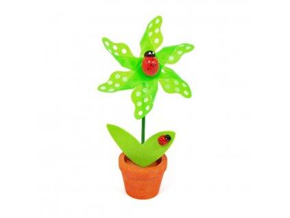 Zelená květina - větrník
