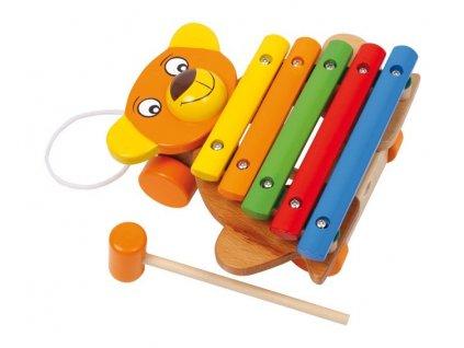 Xylofon medvěd tahací (doprodej)