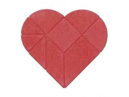 Srdce - kamenné puzzle