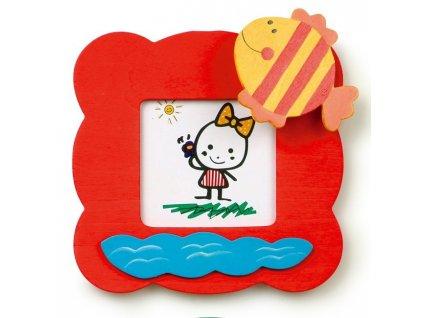 028 - Červený rámeček na foto