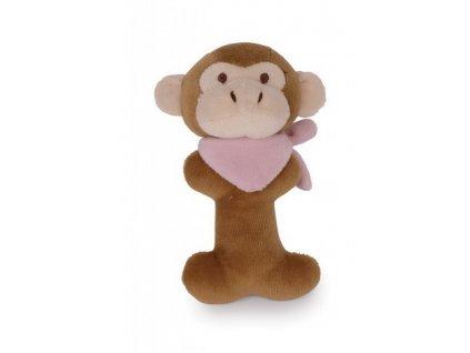 Opička - plyšové chrastítko (doprodej)