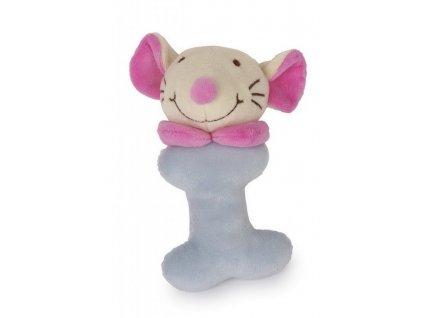 Myška - plyšové chrastítko (doprodej)