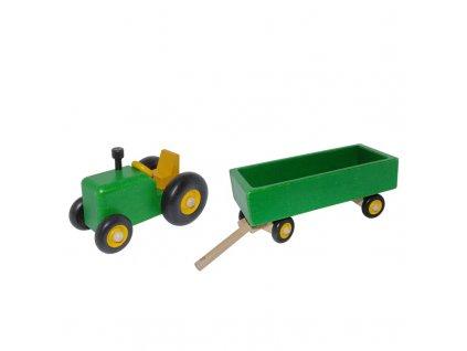 traktor zelený