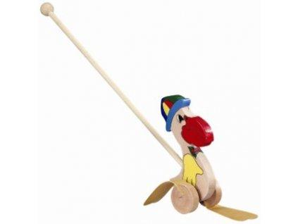 Pelikán na tyči s čepicí