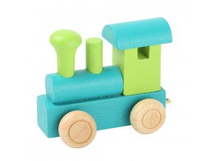 Lokomotiva zelená - barevný vlak