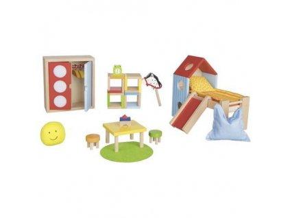 Dětský pokojíček – nábytek do domečku pro panenky, 24 díly