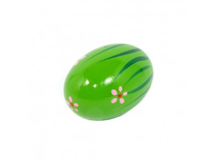 Rumbakoule vajíčko - zelená s kytičkami