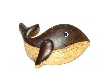 Velryba - magnetka kokosové dřevo