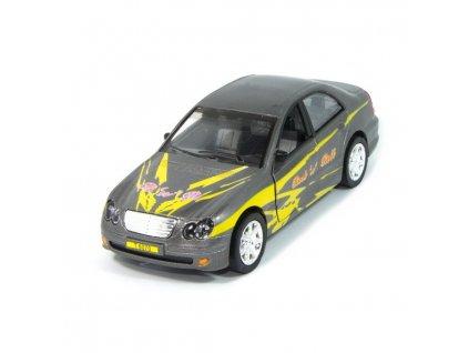 Sportovní auto s osvětlením - šedé