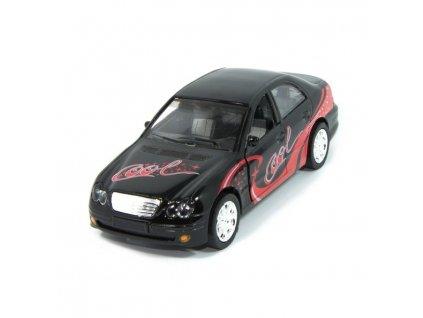 Sportovní auto s osvětlením - černé