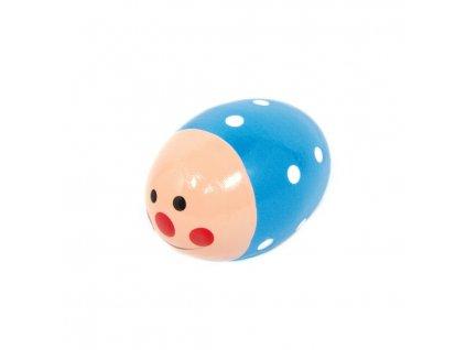 Rumbakoule vajíčko - modrá s úsměvem