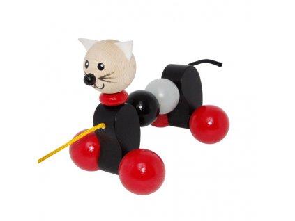 tahací kočka černošedá