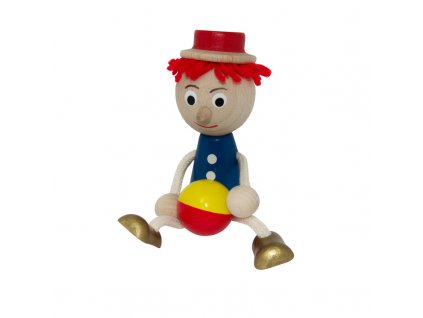 Figurka kluk modrý s barevným míčem III.