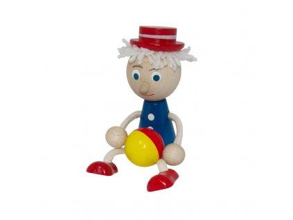 Figurka kluk modrý s barevným míčem IV.