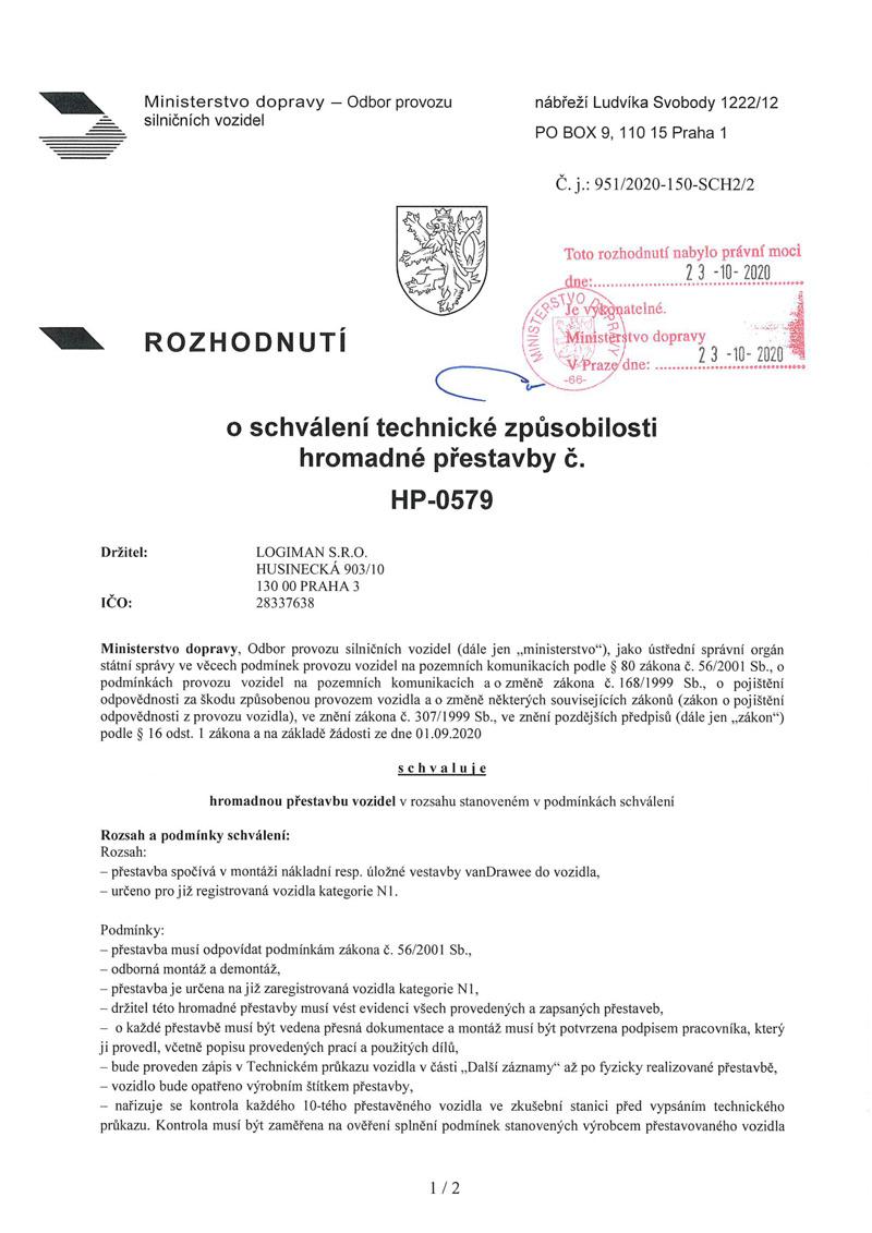 vanDrawee_homologace_HP-0579-strana1
