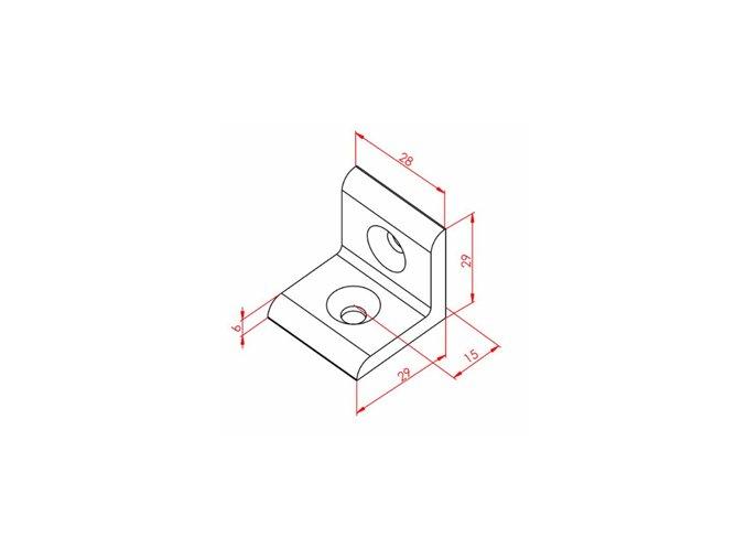 Úhelníková spojka 30x30
