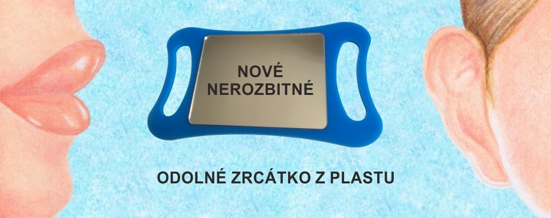 Odolná plastová logopedická zrcátka do ruky