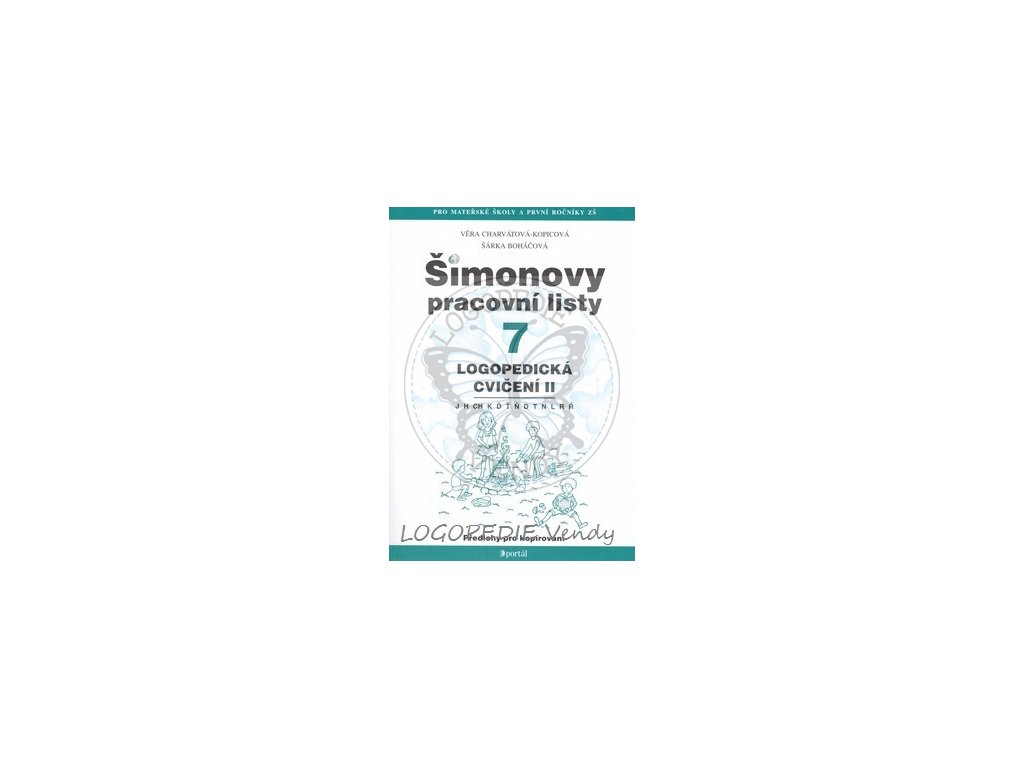 Simonovy Pracovni Listy 7 Logopedicka Cviceni Ii Logopedie Vendy
