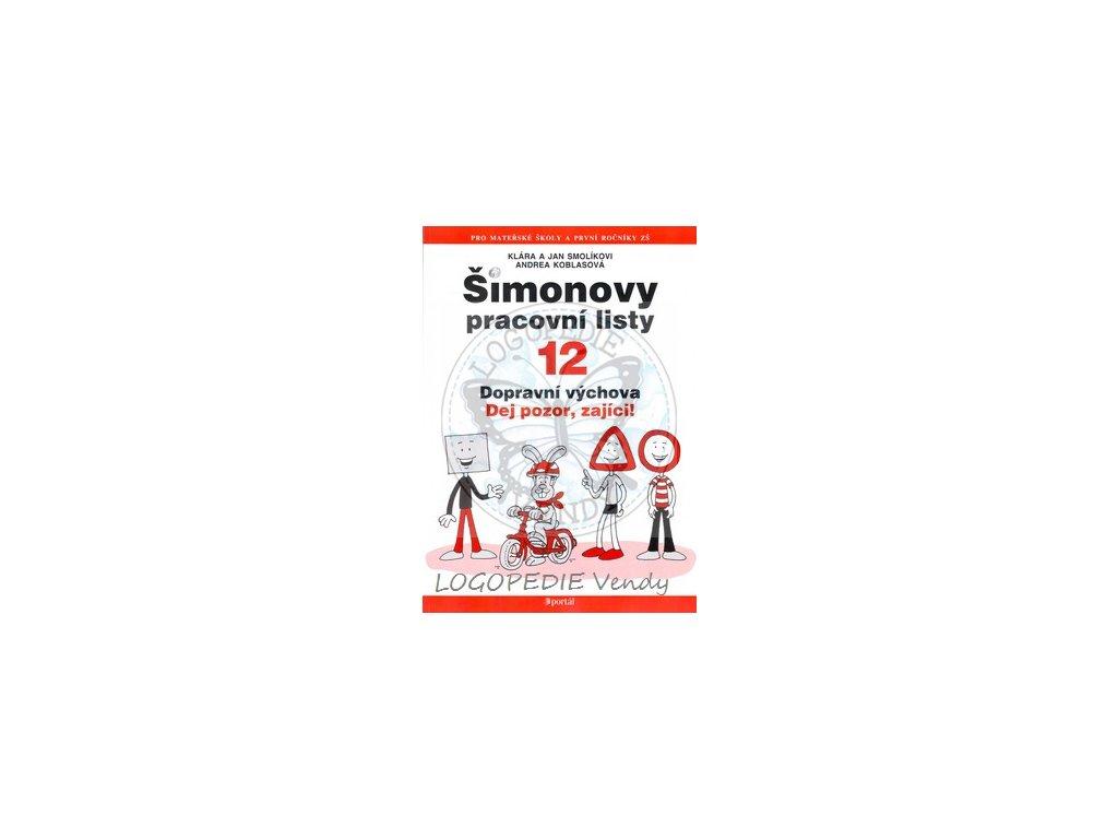 Šimonovy pracovní listy 12  Dopravní výchova