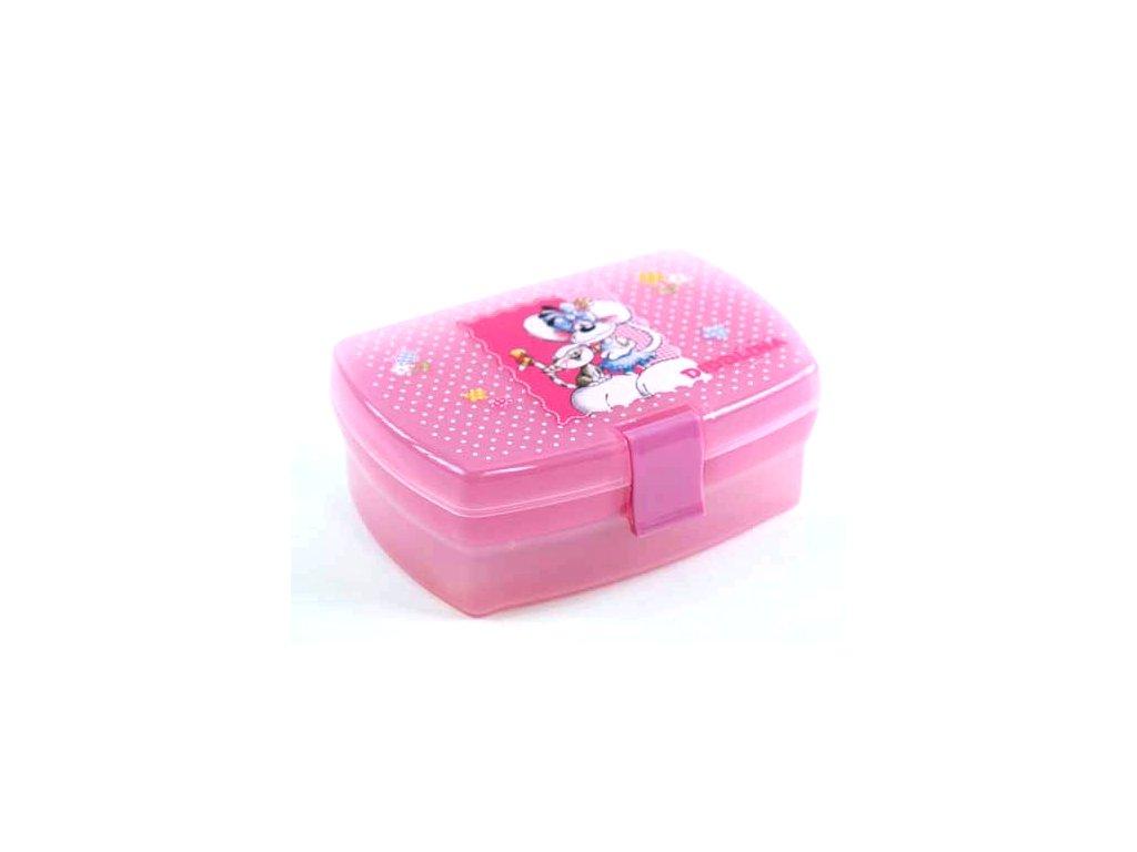 Svačinový box s táckem Diddlina a Milimits, růžová