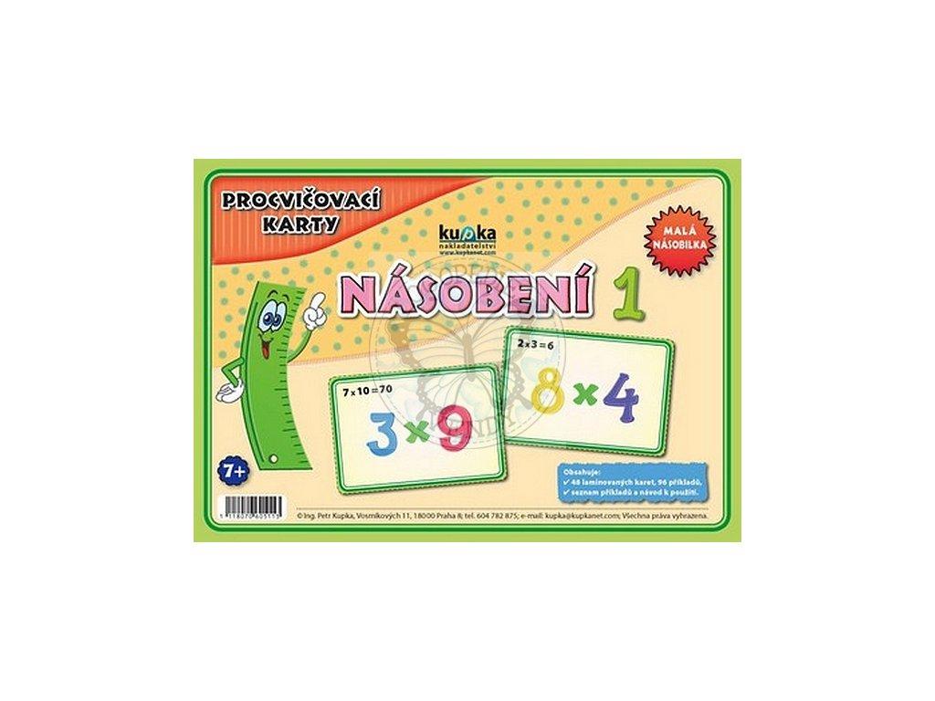 Procvičovací karty - násobení 1 (malá násobilka)