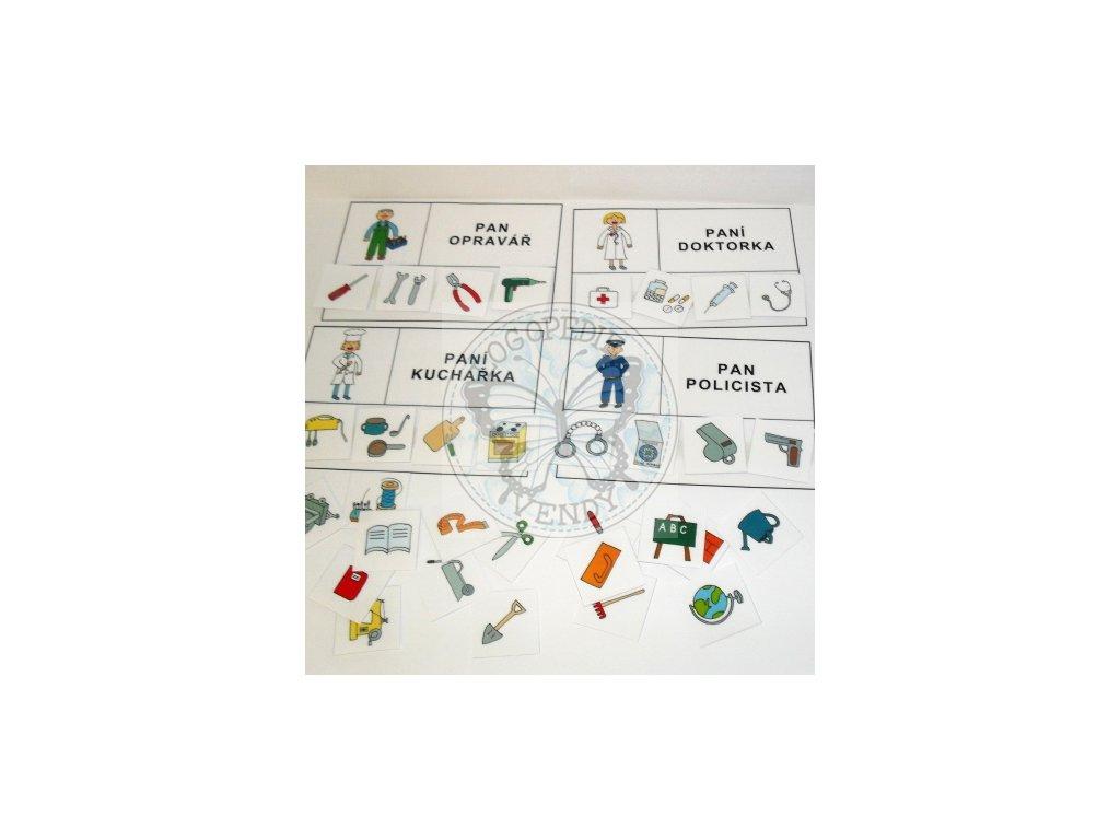 Povolání - strukturované karty