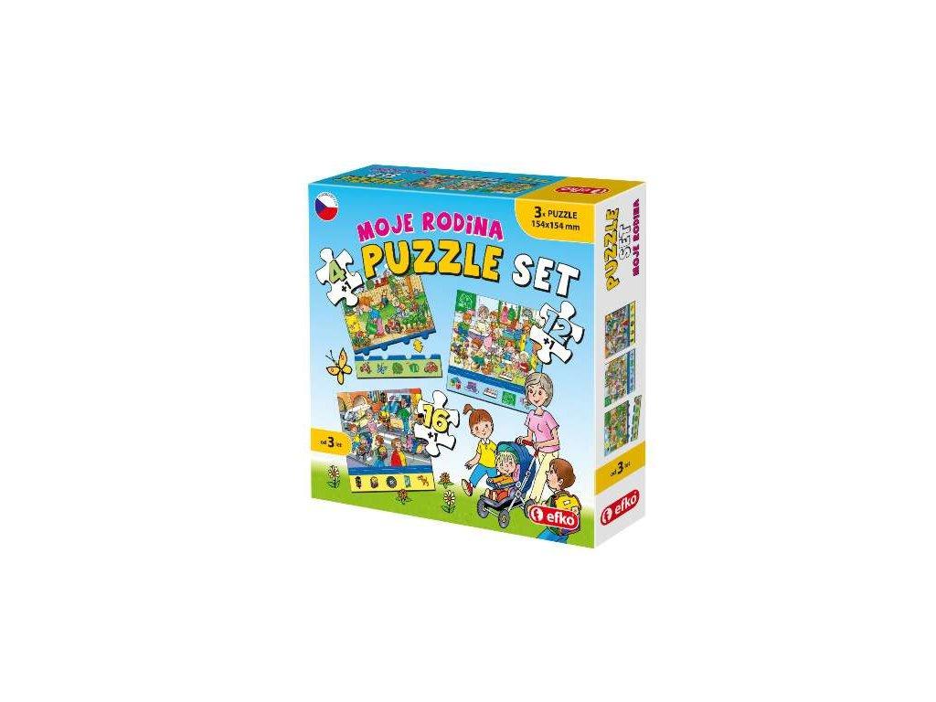 Soubor puzzle 3v1  MOJE RODINA, Efko