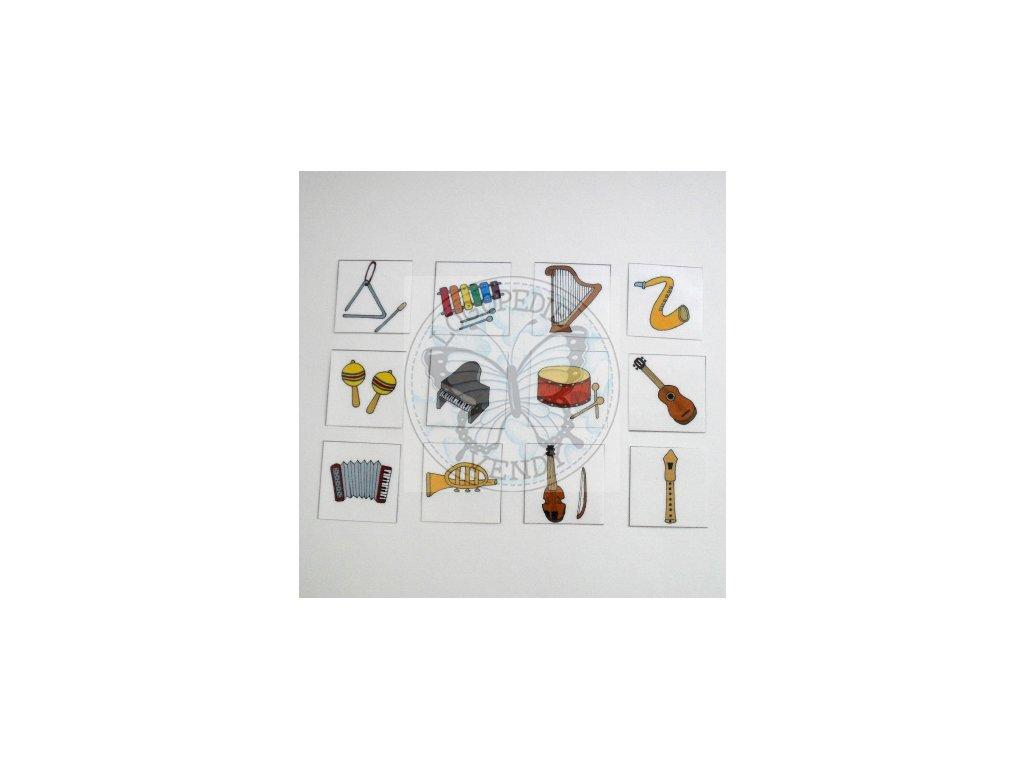 Hudební nástroje - obrázkové kartičky