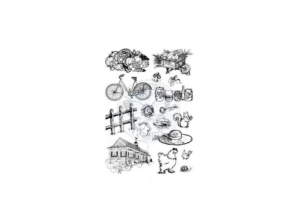 Gelová razítka 20x30 cm - Farma