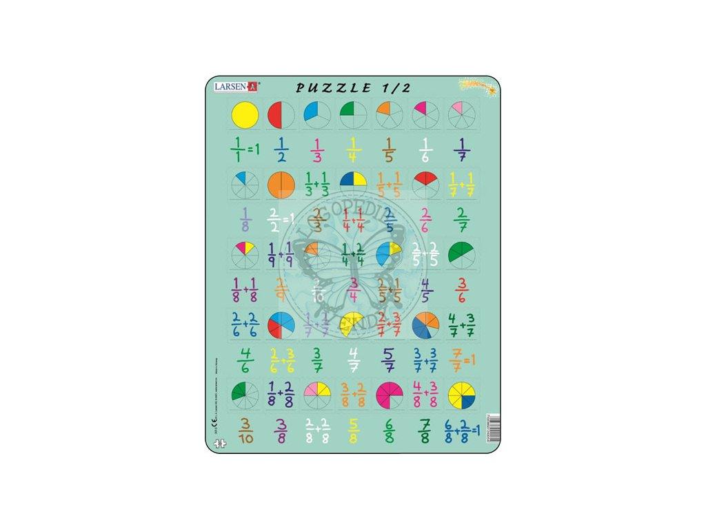 Puzzle MAXI - Počítání - zlomky 35 dílků