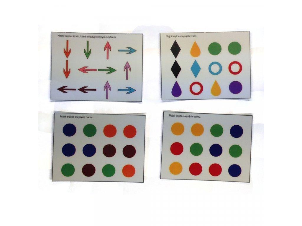 Barvy, tvary, šipky - předloha GeoTrio