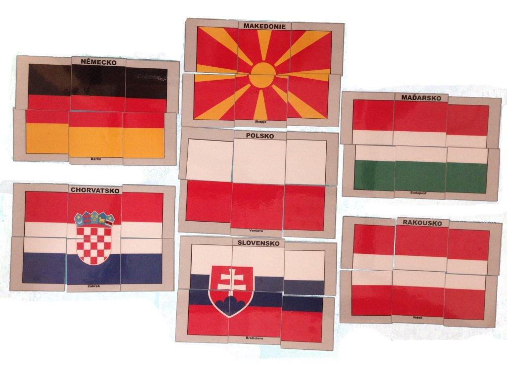 Skládačka - vlajky
