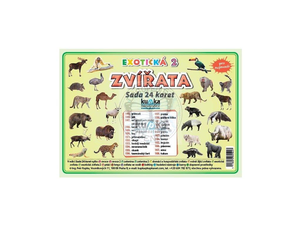Exotická zvířata 2 - Sada 24 karet, Petr Kupka
