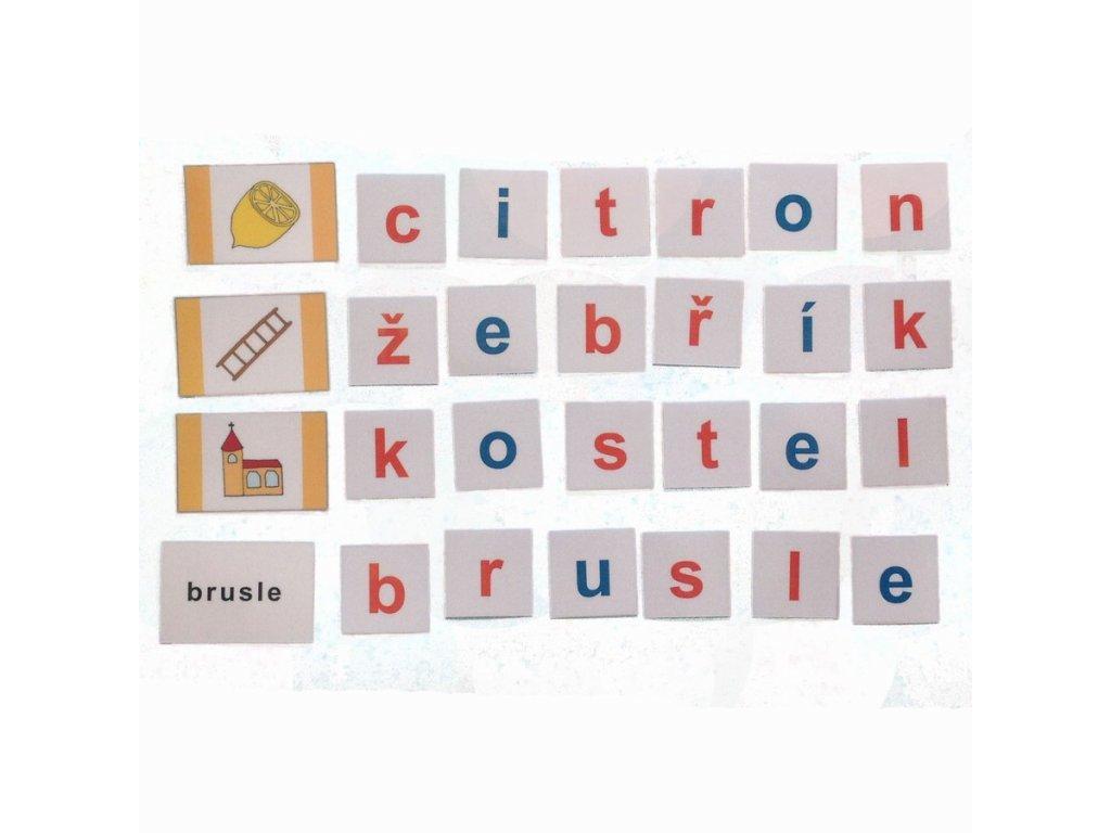 Montessori - Skládání slov 6