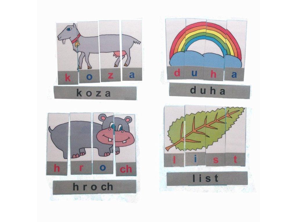 Montessori - Skládačka se slovy 3