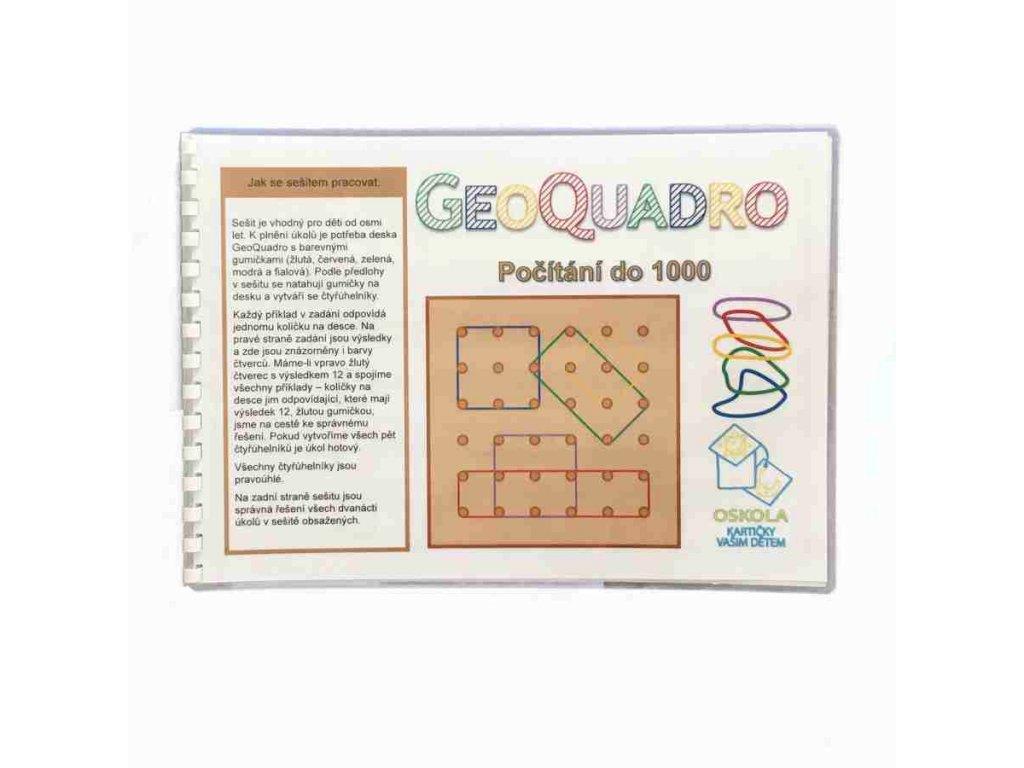 Počítání do 1000 - předloha GeoQuadro