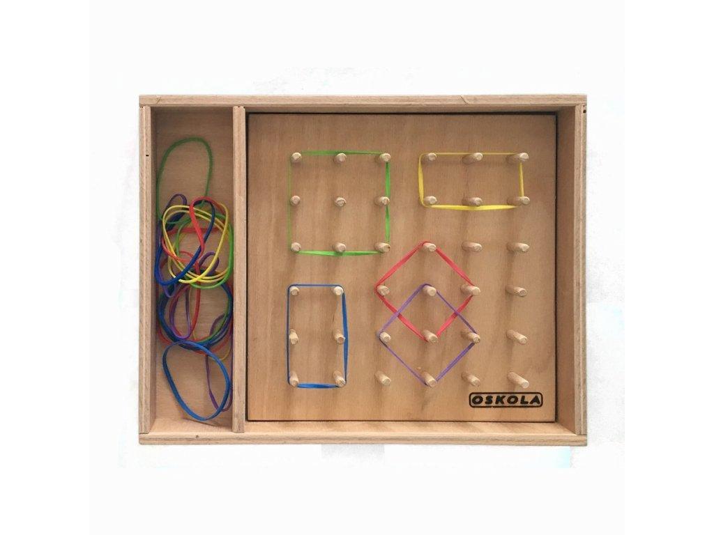 Dřevěná krabice GeoQuadro