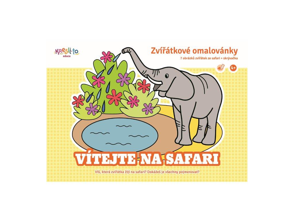Zviratkove omalovanky Vitejte na safari