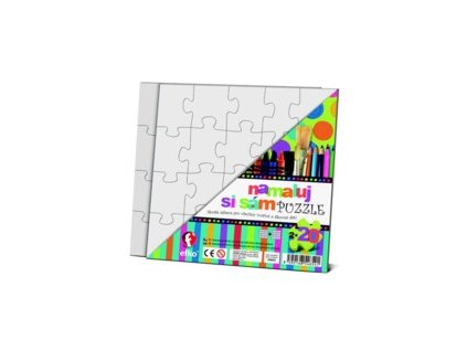 Puzzle - Namaluj si sám, 2 čtverce