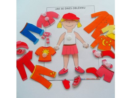 Oblékací postava - holka